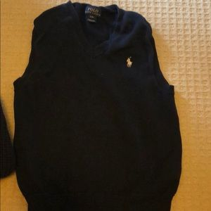 Ralph Lauren navy light weight cotton vest
